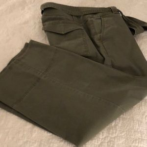 Loft wide legged crop pants